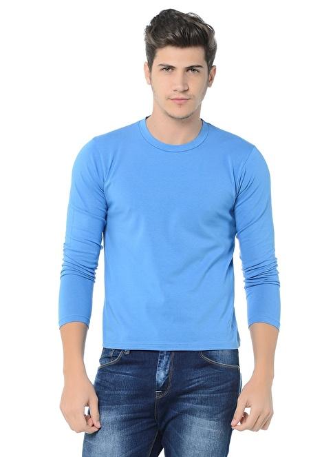 Grip Bisiklet Yaka Tişört Mavi